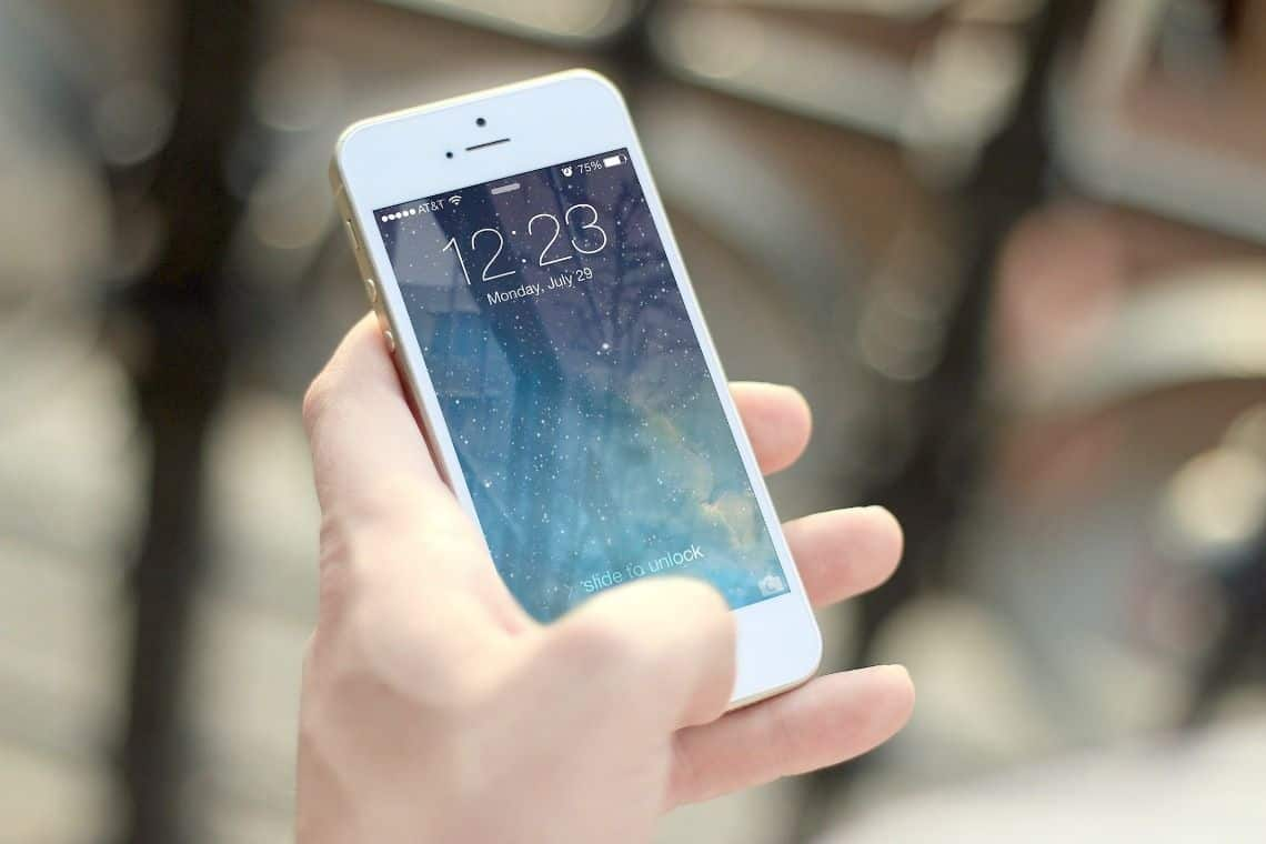 Image of person holding cell phone.
