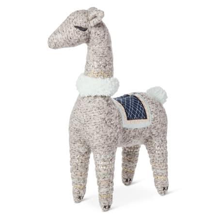Stuffed llama baby toy.