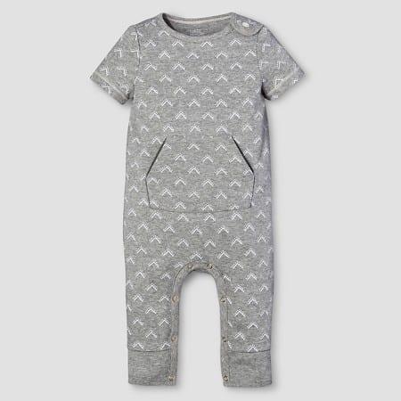 Nate Berkus grey baby onesie.