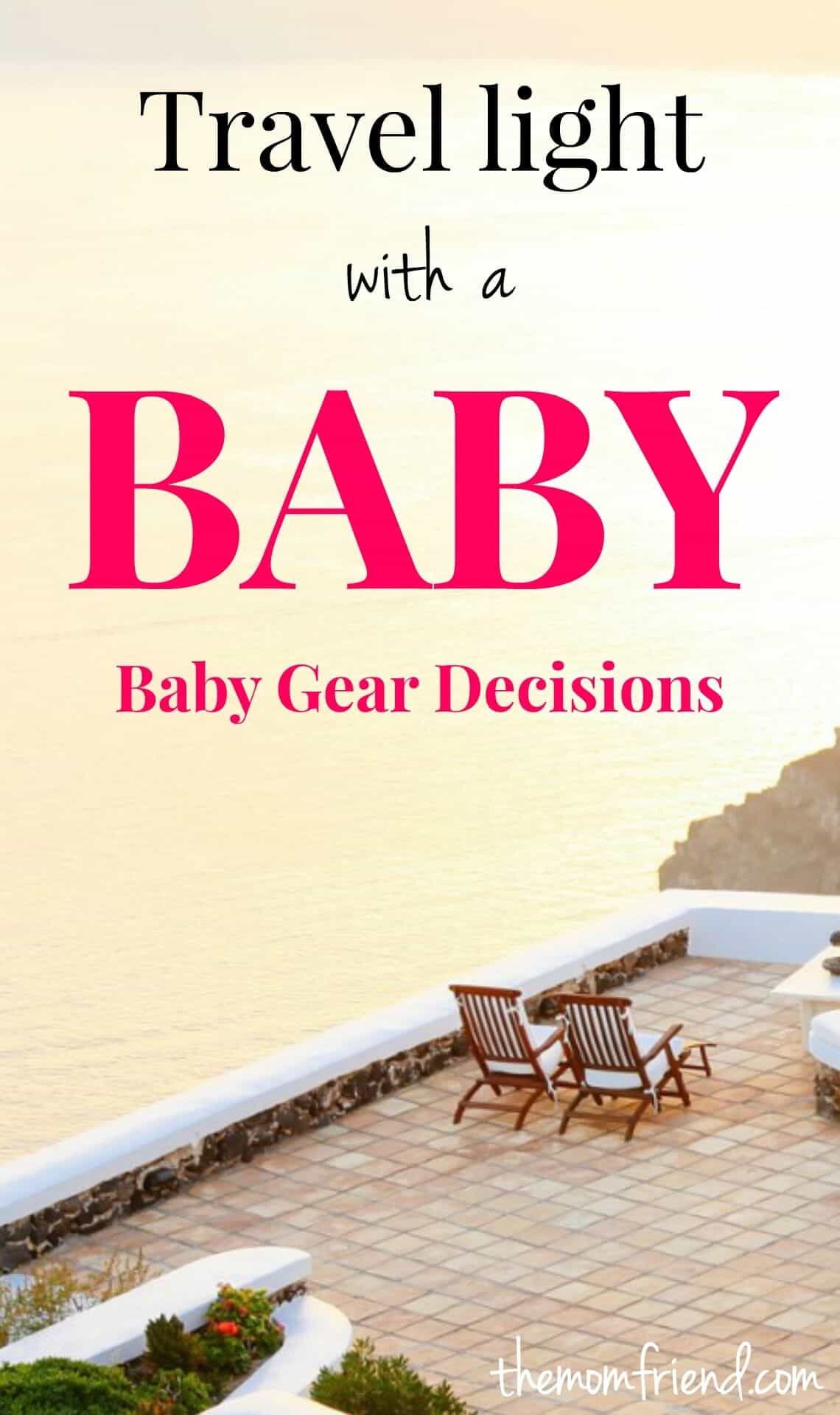 Choosing the right baby gear to bring while traveling with a baby makes all the difference. Check out these tips for packing light so you can travel carry-only or fly more relaxed!   The Mom Friend   themomfriend.com