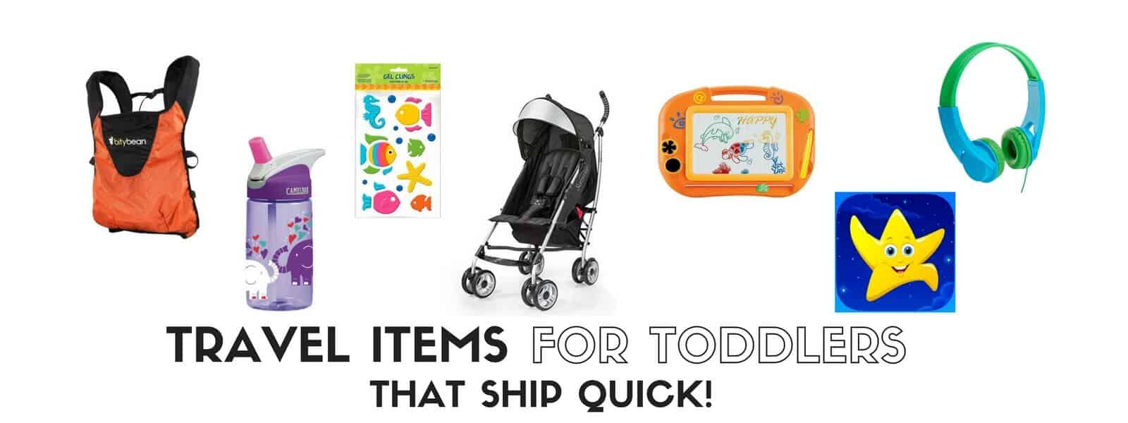 Check out these great toddler-friendly travel items, including a review of the Kidloland educational app, to help you be prepared for travel with kids no matter how much you procrastinated on buying things! (All are Amazon Prime friendly!) | themomfriend.com