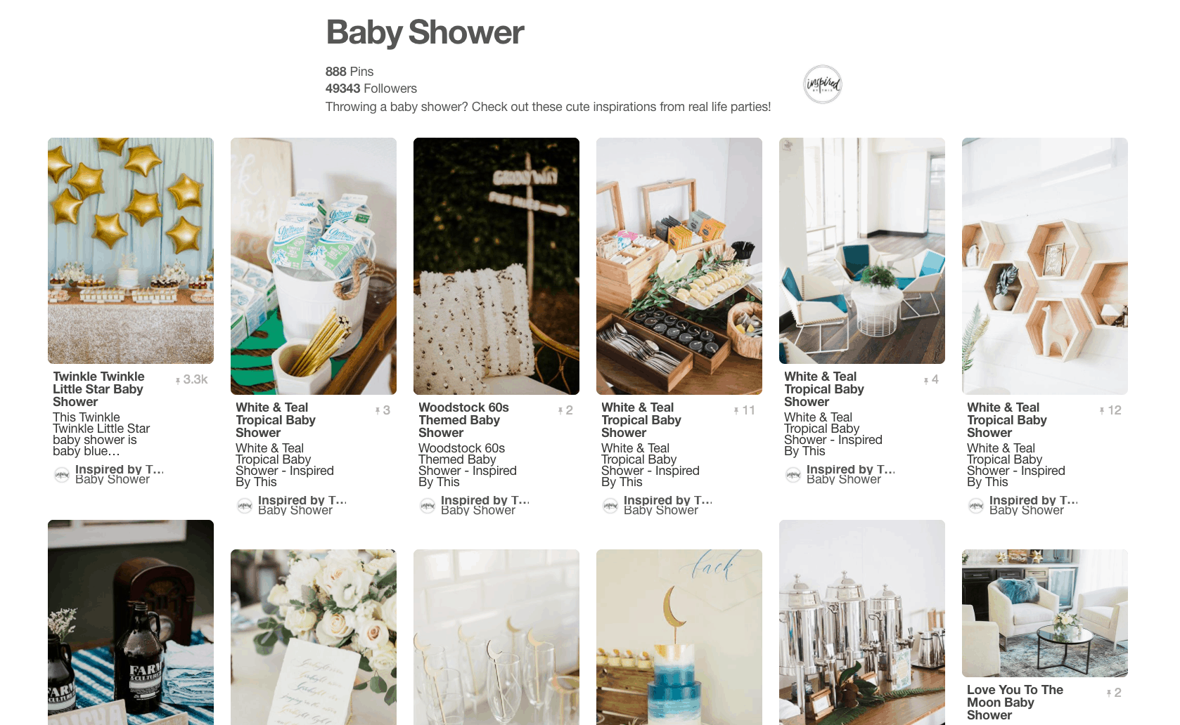Collage of baby shower ideas.