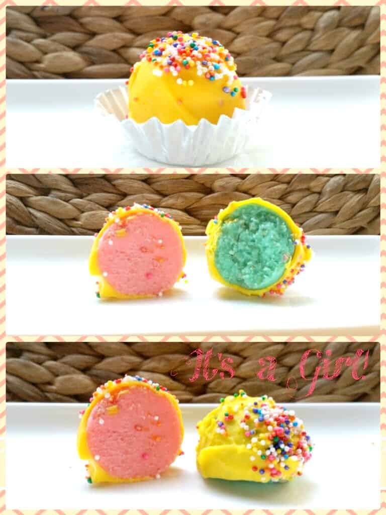 how to do a facebook gender reveal with cake pops