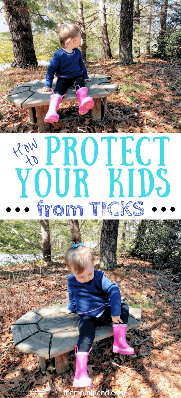 Pinnable image of How to Protect Your Kids From Ticks.