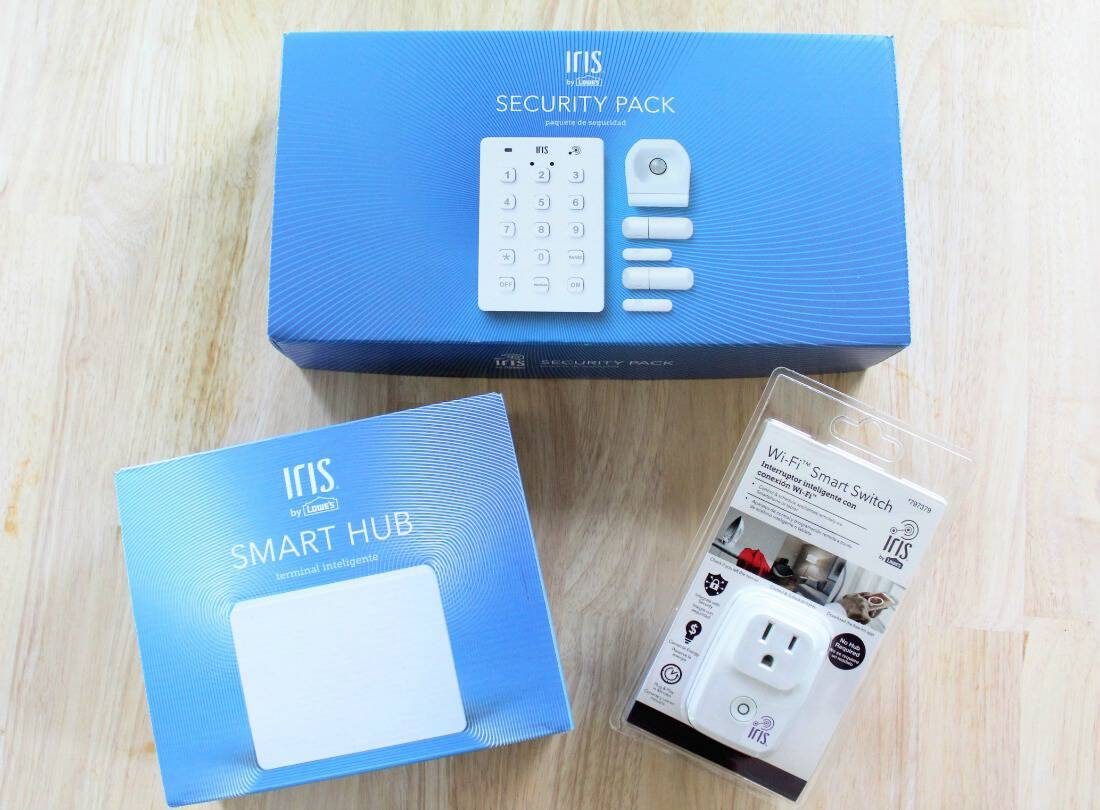 Iris smart home products for toddler safety.