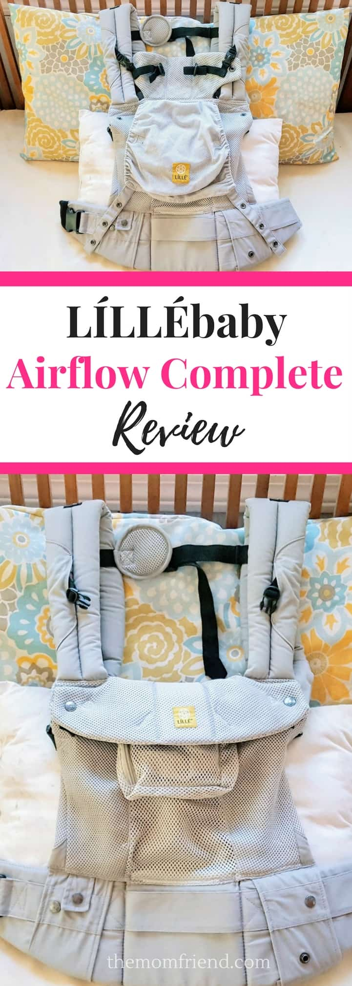 Pinnable image of LILLEbaby Airflow Complete Review.