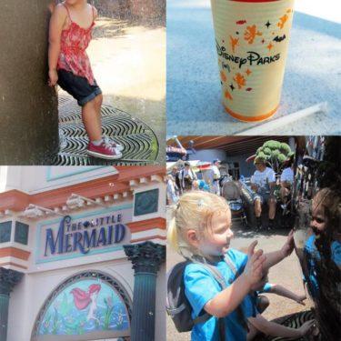 Image collage of Disneyland activities.
