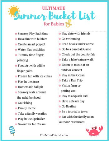 ultimate summer bucket list for babies the mom friend