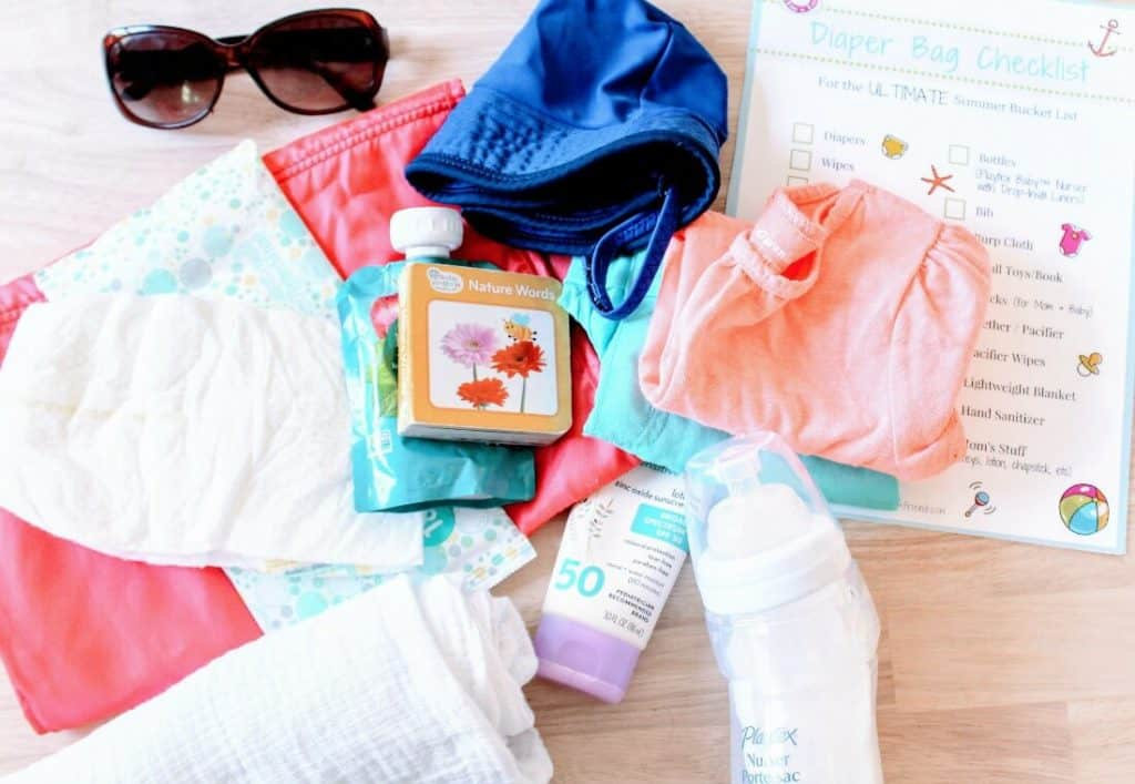Toddler girl items for beach trip.