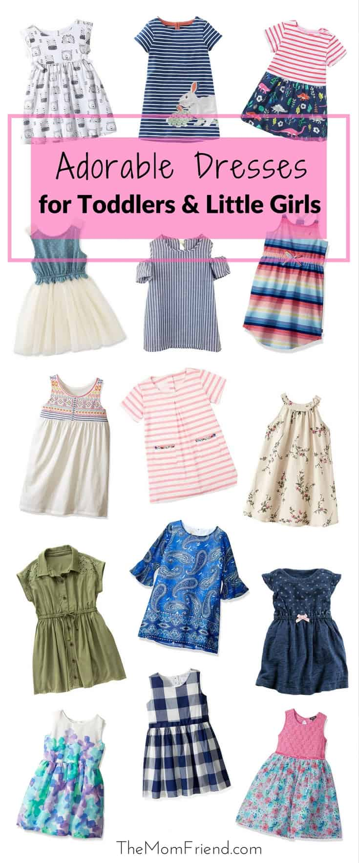 From playdate to photoshoot, these toddler dresses will keep them stylin'. | baby girl fashion | toddler girl style | toddler outfit | little girl style | baby girl fashion | toddler summer dress | back to school outfit