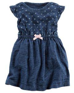 carters denim solid dress