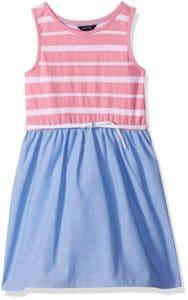 nautica pink chambray dress