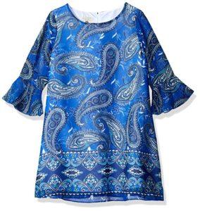 printed shift dress paisley
