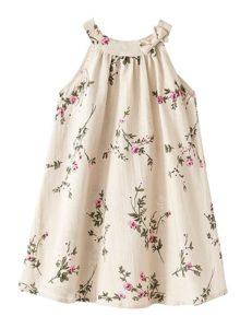 twinpo cream floral dress
