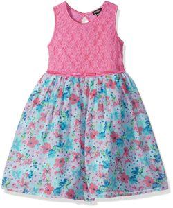 zunie pink floral fancy dress
