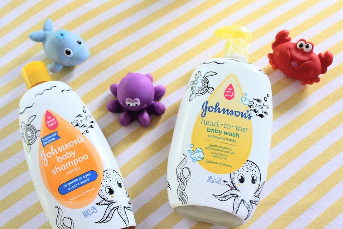 Johnson\'s baby wash and shampoo products.