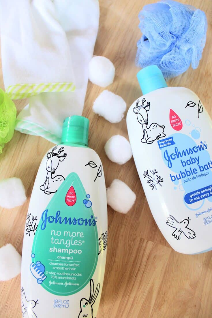 Johnson\'s skin care products for babies.