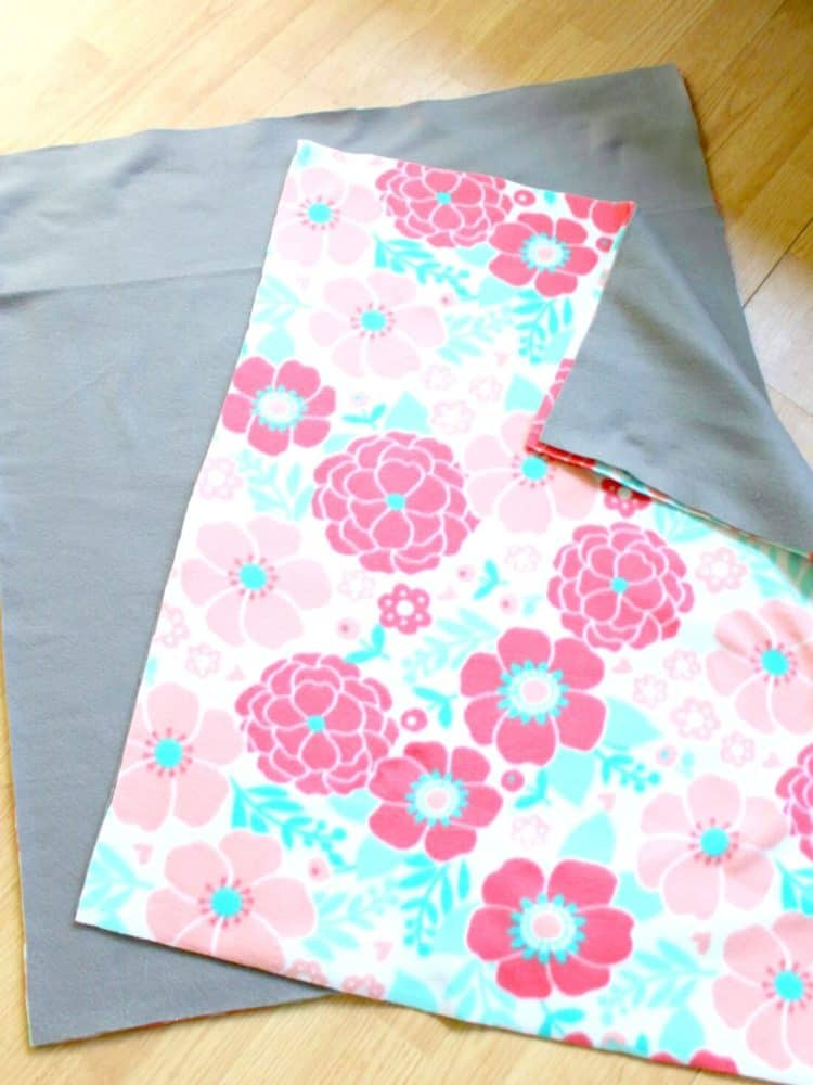 Fabric for baby pillow and matching bed for dog.