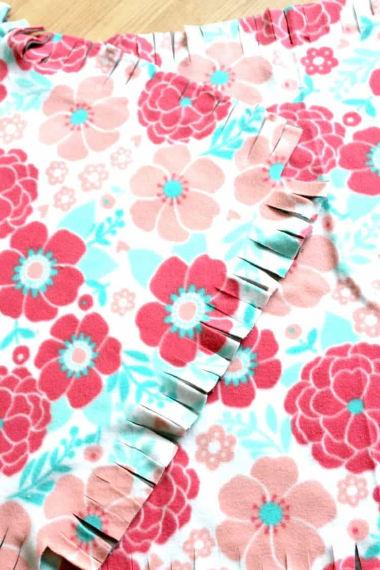 Floral fabric for pillow for baby and dog bed.