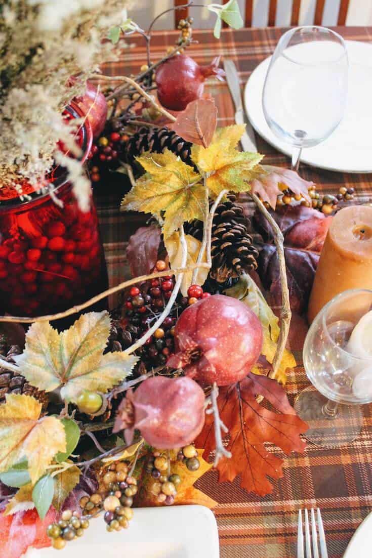 Fall table decor.