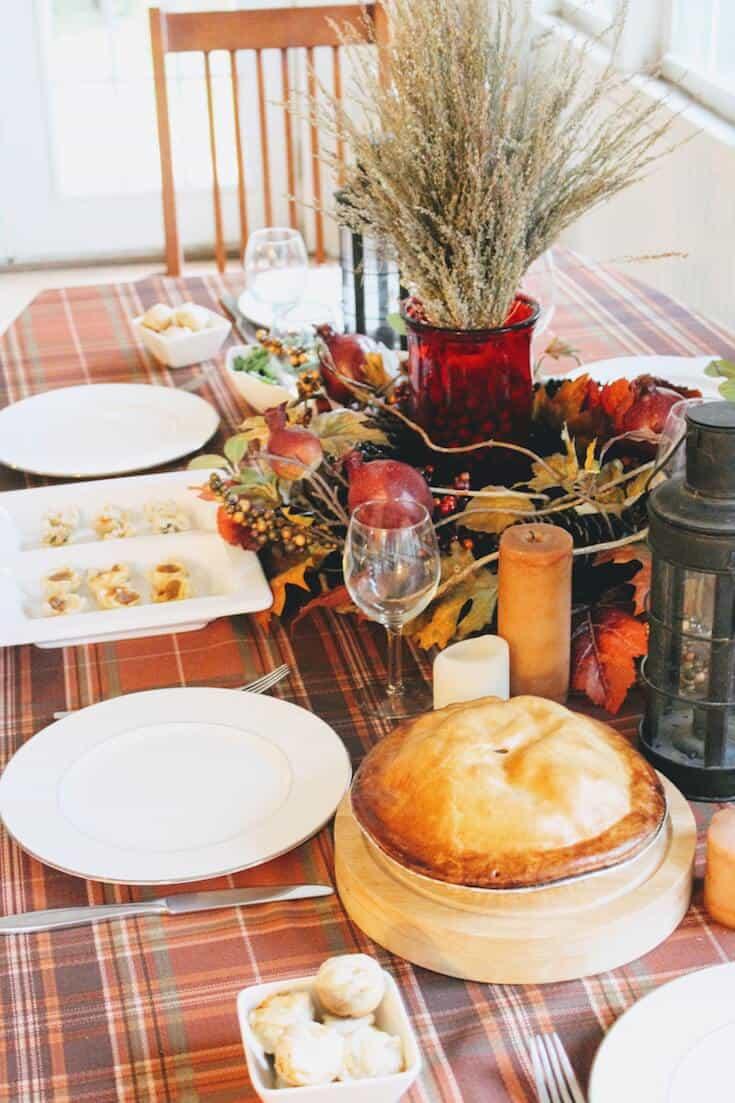 Thanksgiving table settings.