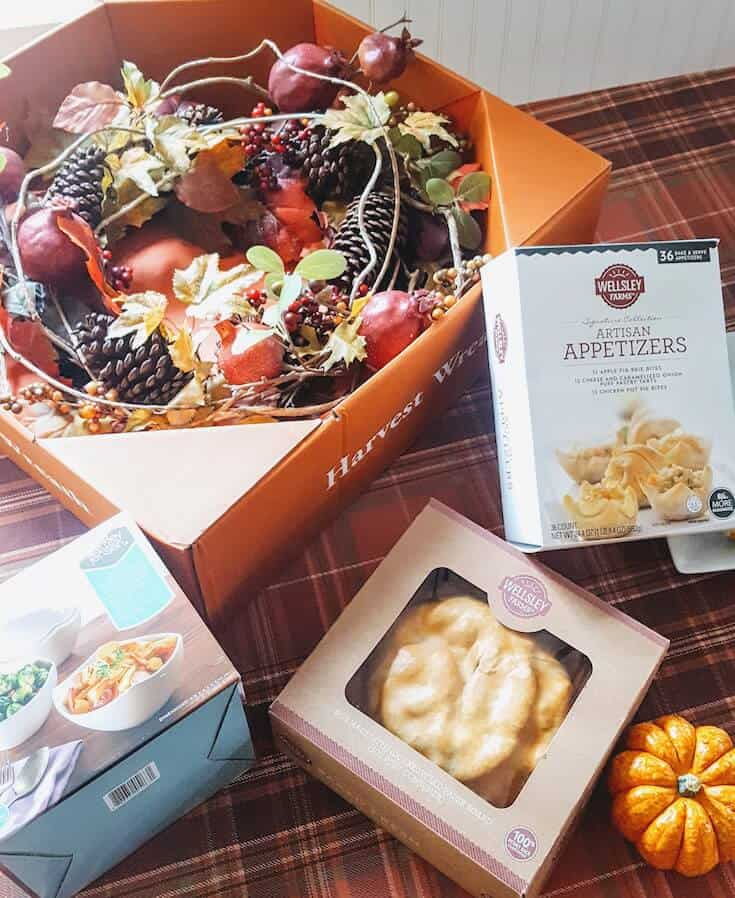 Premade Thanksgiving food boxes.