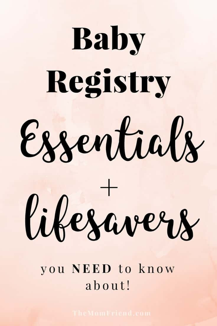The moms have spoken! These are the best baby registry must haves, including all the baby registry essentials and lifesavers that you don't want to forget. The Mom Friend surveyed real moms to find out what baby gear and newborn necessities they love most so you can create the perfect registry. | best baby gear | #babyregistry #babygear