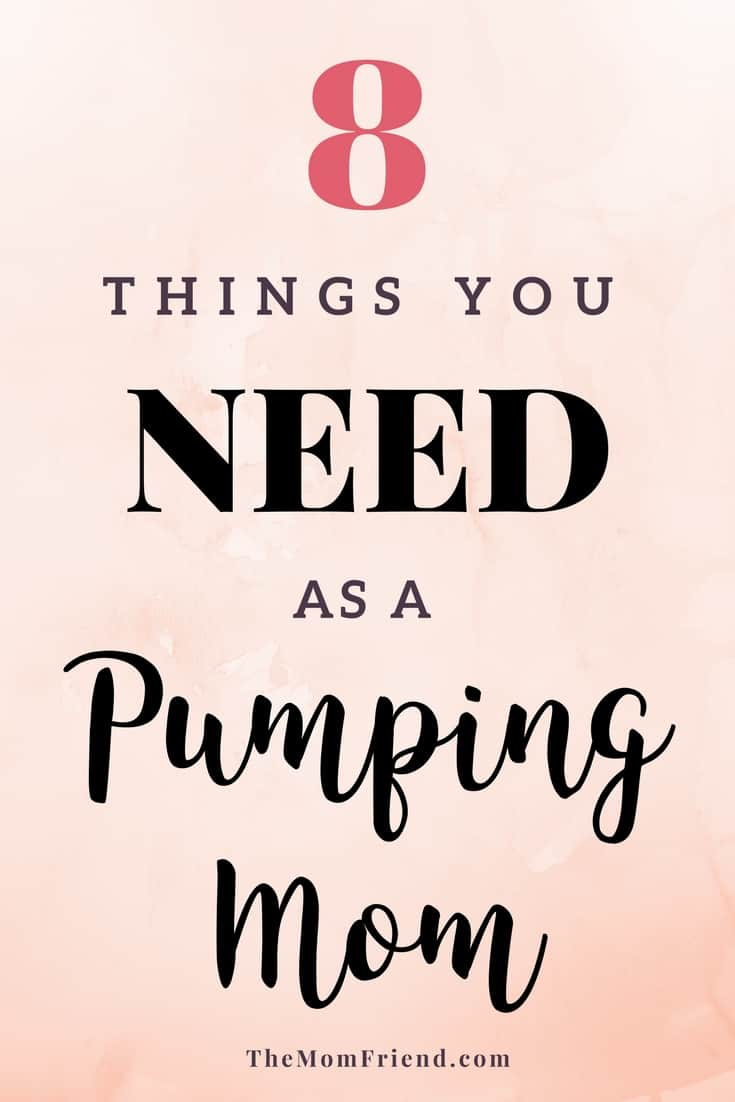 Breastfeeding & pumping or exclusively pumping? Here are 8 pumping must-haves for new moms.   pumping tips   pumping milk   breastfeeding tips   pumping at work   best baby gear #breastfeeding #pumping #babygear