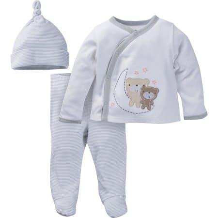 3 piece baby pajama set.