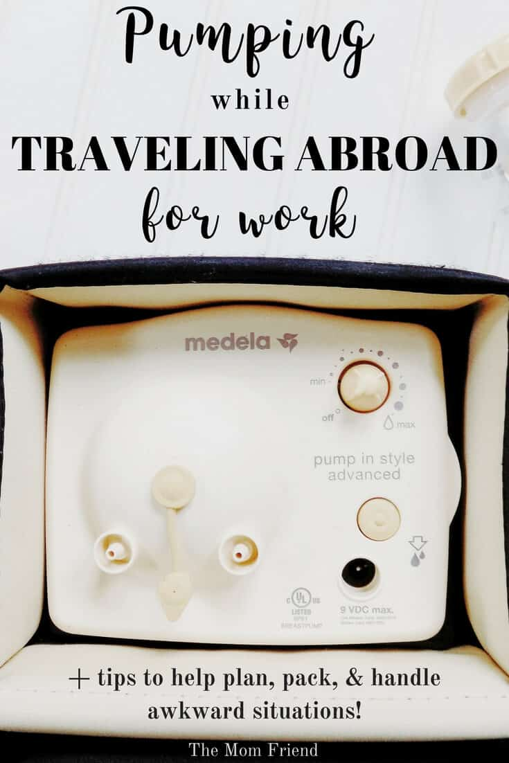 Pumping while working abroad can be confusing or awkward, here are some tips to make traveling with breastmilk and pumping abroad easier! #breastfeeding #pumping #pumpingwhileworking #workingmom