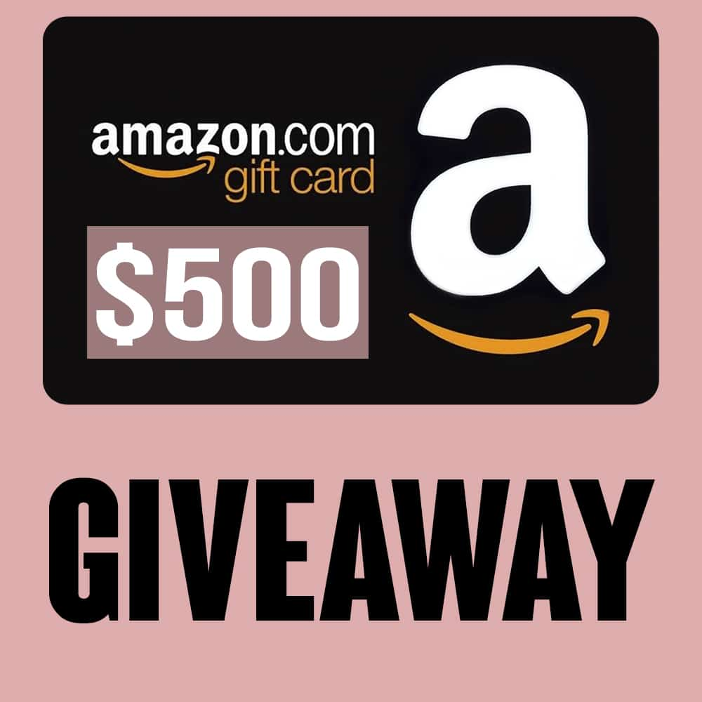 Image graphic for $500 Amazon giveaway.