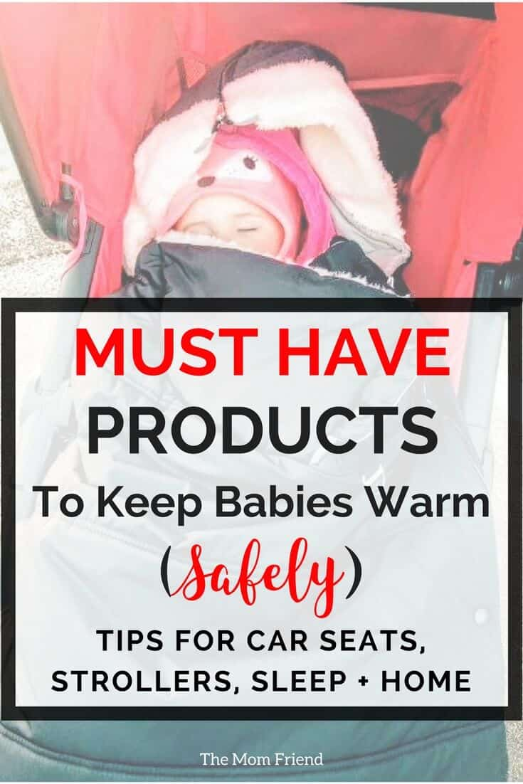 Tips and baby gear must haves for keeping babies warm at night, in the car, and during winter. Favorite baby products to keep babies and toddlers safe and warm. Be sure to add these to your baby registry essentials! #babyregistry #babygear #bestbabygear