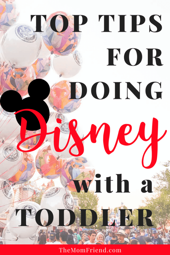 Image of Main Street at Disney with text Top Tips for Doing Disney with a Toddler