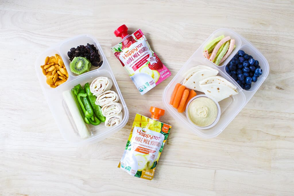 Toddler lunch boxes with finger foods and easy meal ideas