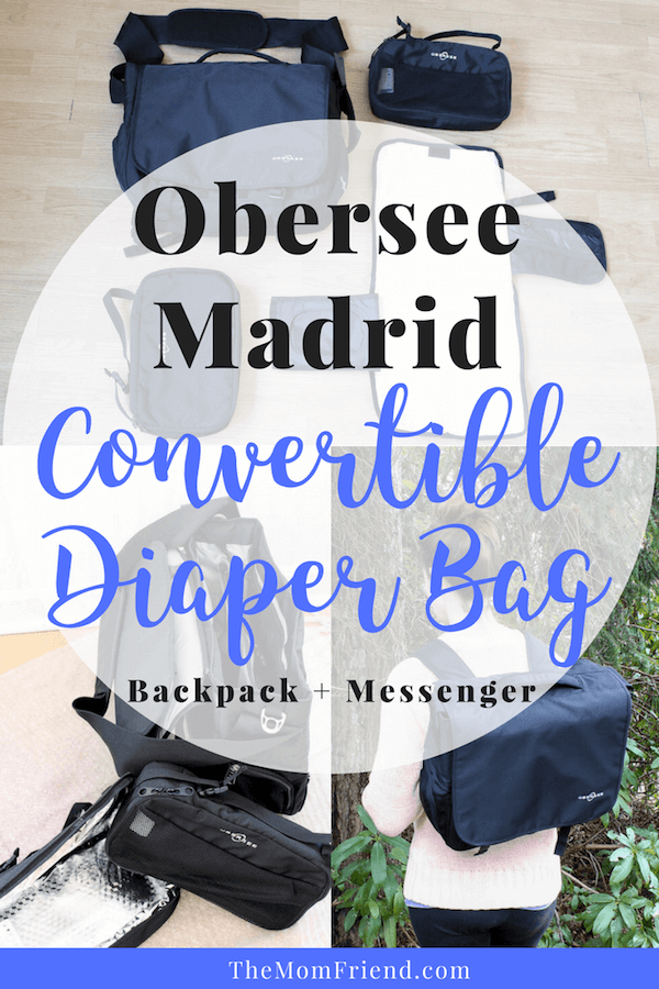 A review of the Obersee Madrid—a diaper bag backpack with great organization features for moms and dads! #diaperbag #bestdiaperbags #babygear #babyregisty