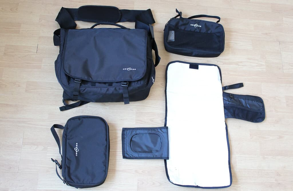 A review of the Obersee Madrid—a diaper bag backpack with great organization features for moms and dads! #diaperbag #bestdiaperbags #babygear #babyregisty #