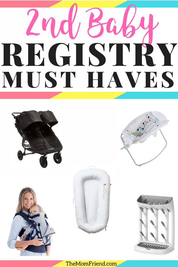 New baby on the way? Here are some registry wishlist items and second baby must haves for new or 2nd time moms alike! #babyregistryessentials