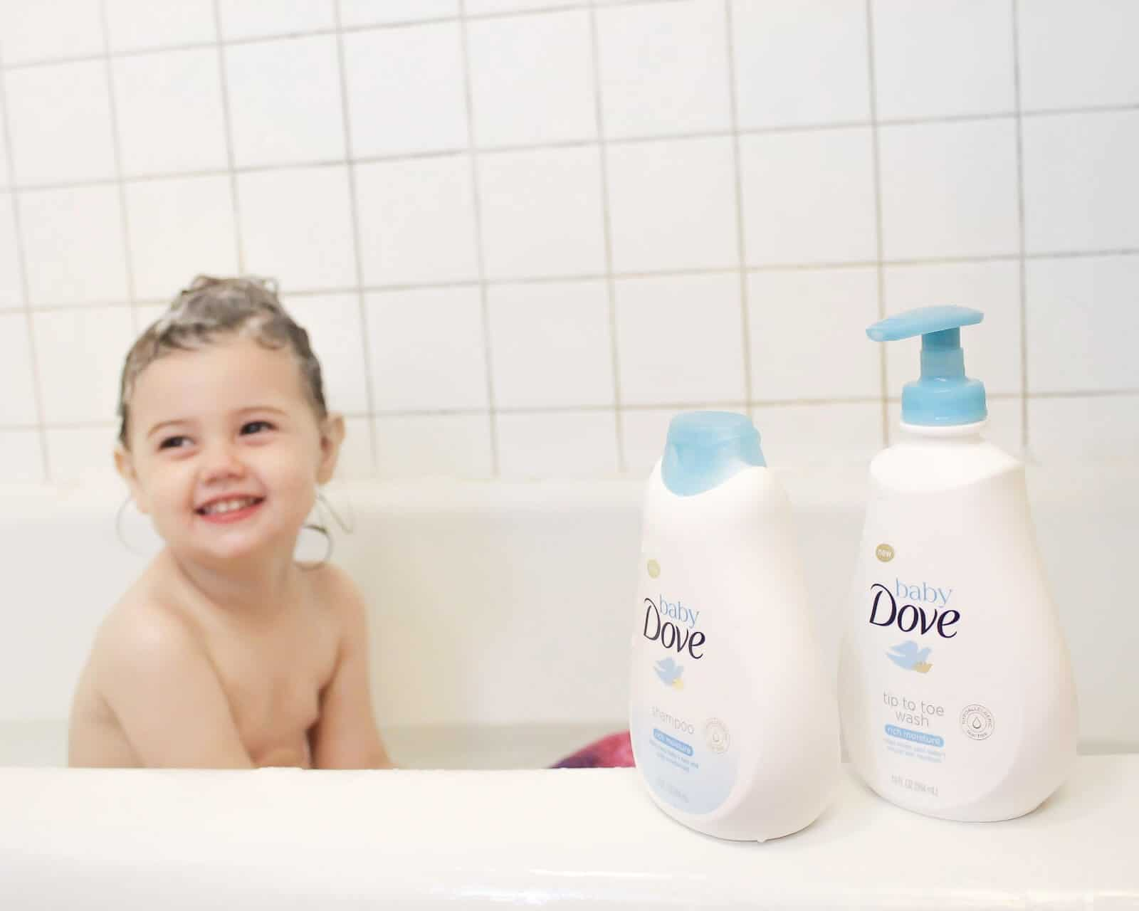 Tips for taking care of baby's skin in summer with Baby Dove products.