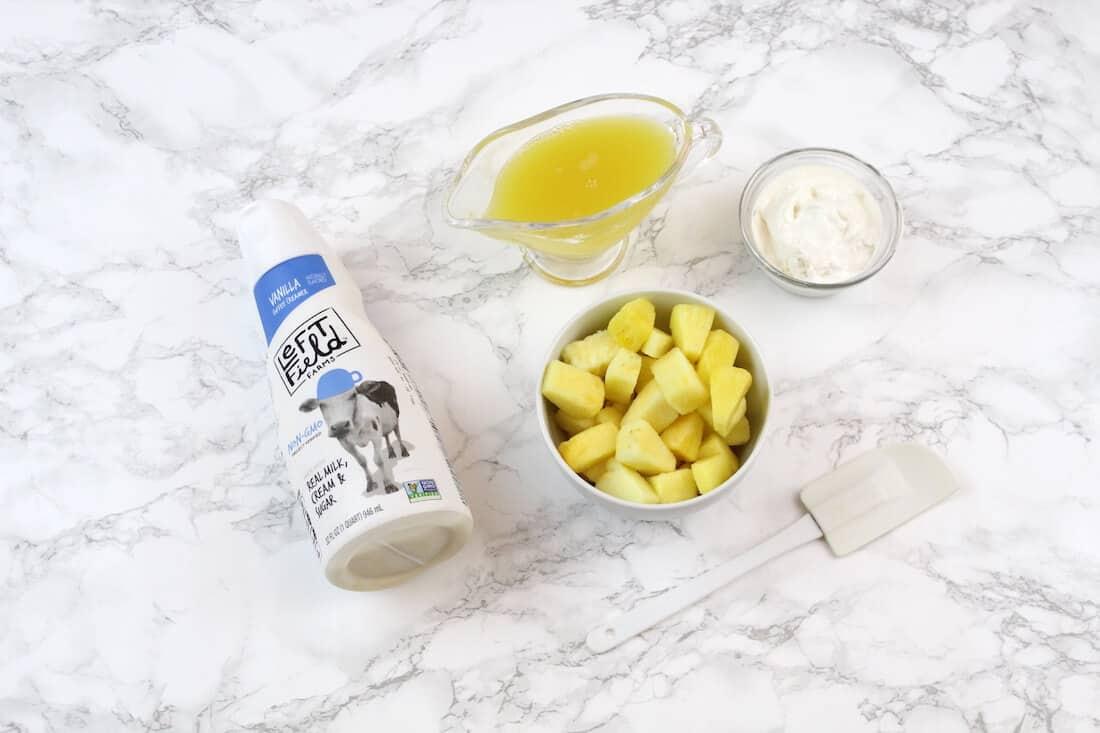 Ingredients to make copycat smoothie recipe.