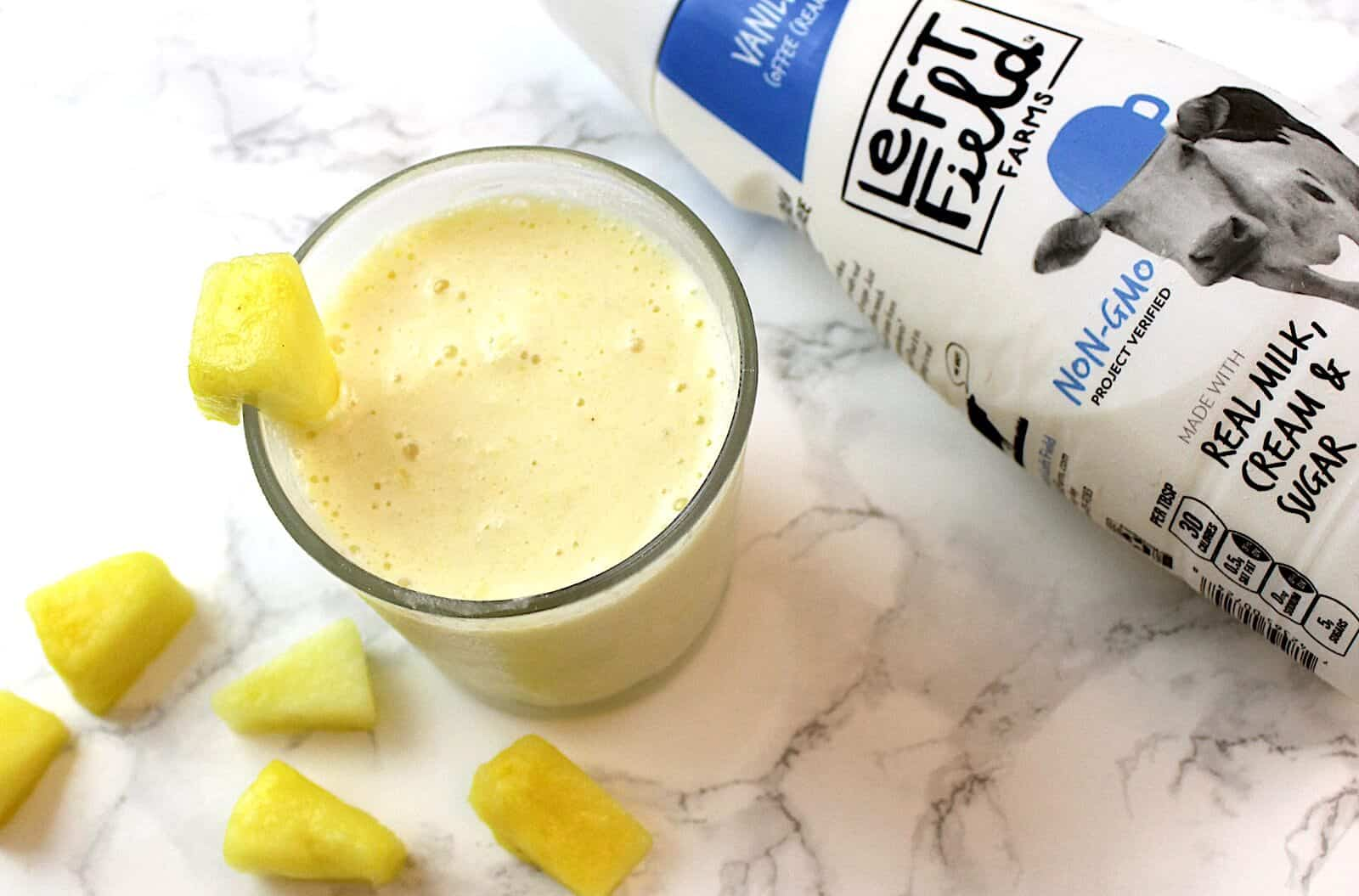 Easy 4 Ingredient Copycat Dole Whip Smoothie