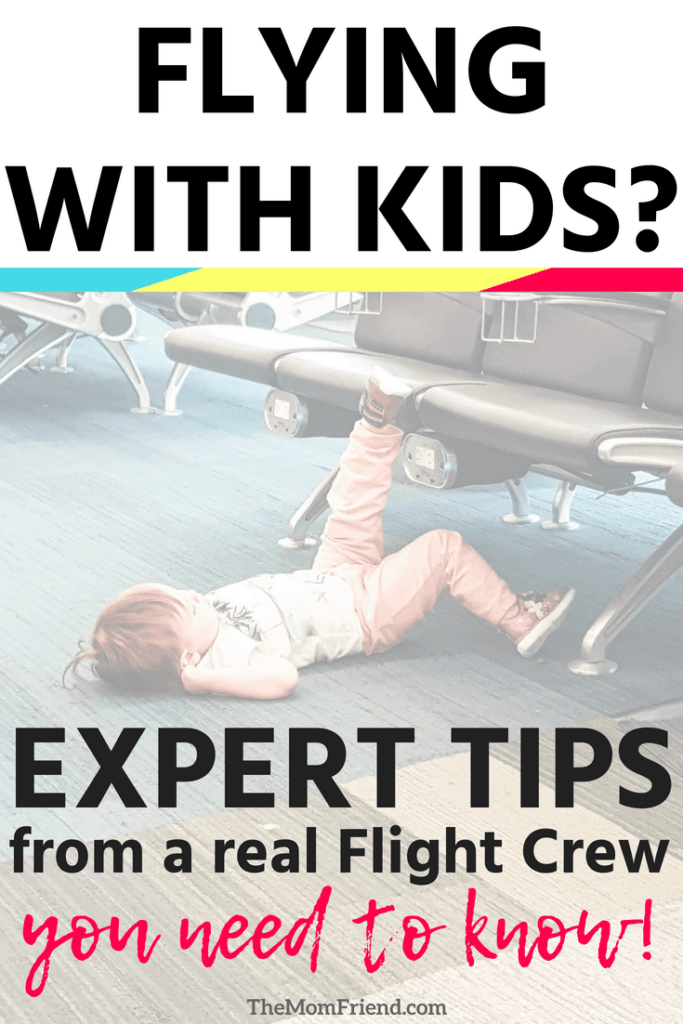 Pinnable image of traveling toddler waiting to board plane.