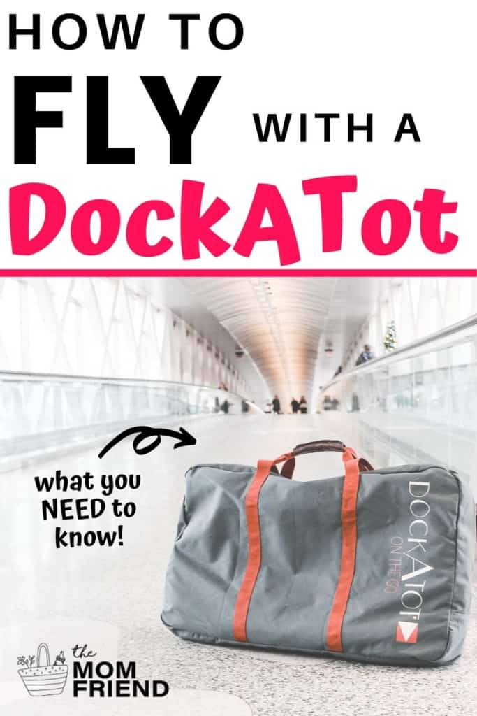 pin image of dockatot travel bag with text how to fly with a dockatot what you need to know