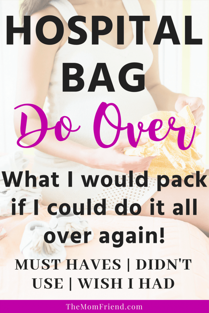 What to pack in a hospital bag graphic.