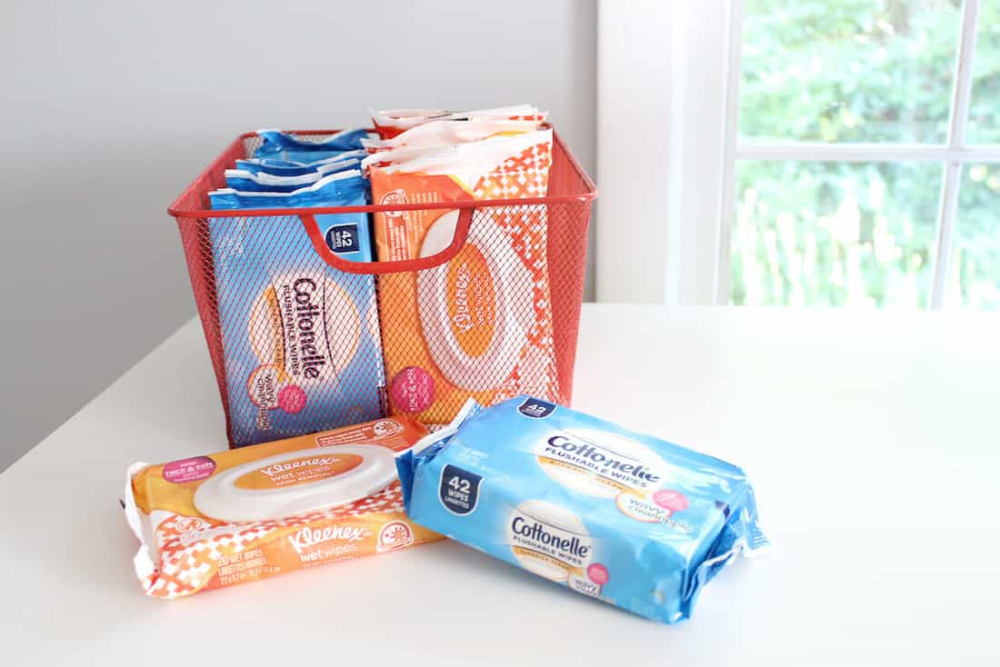 Several wipes packages from Cottonelle.