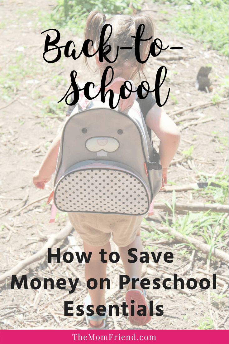 Pinnable image of Back-To-School Savings + Tips for Preschool or Daycare.