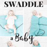 How to Swaddle a Baby using the Diamond Method taught by a materinity nurse. Perfect for swaddling a newborn to help them sleep!