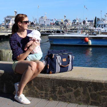 Baby K'tan Weekender in provincetowndiaper bag in