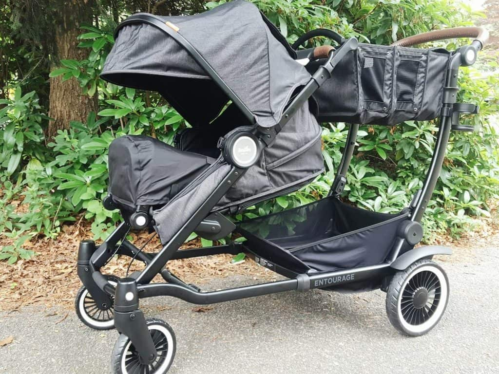 Close up of Austlen stroller.