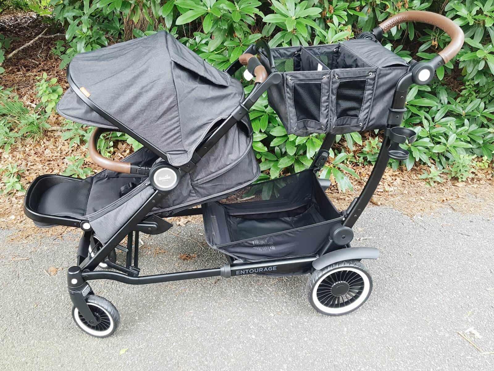Austlen Entourage Workhorse Stroller for families on walking path.