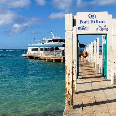 dock for atlantis submarine adventure in oahu hawaii